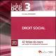 CARRES DCG 3 - DROIT SOCIAL - 7EME EDITION - 42 FICHES DE COURS POUR ACQUERIR LES CONNAISSANCES NECE