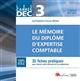DEC 3 - LE MEMOIRE DU DIPLOME D'EXPERTISE COMPTABLE