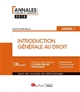 INTRODUCTION GENERALE AU DROIT - L1-S1 2EME EDITION