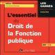 L'ESSENTIEL DU DROIT DE LA FONCTION PUBLIQUE 11EME EDITION