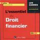 L'ESSENTIEL DU DROIT FINANCIER - 6EME EDITION