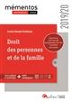 DROIT DES PERSONNES ET DE LA FAMILLE - INTEGRE LES DISPOSITIONS DE LA LOI DU 23MARS 2019 DE PROGRAMM