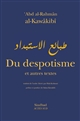 Du despotisme