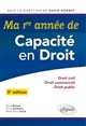 MA 1RE ANNEE DE CAPACITE EN DROIT -  3E EDITION