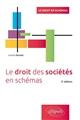 LE DROIT DES SOCIETES EN SCHEMAS -  2E EDITION