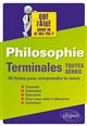PHILOSOPHIE. TLES TOUTES SERIES - 46 FICHES-METHODES POUR COMPRENDRE LE COURS