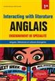 ANGLAIS. ENSEIGNEMENT DE SPECIALITE DE LANGUES, LITTERATURES ET CULTURES ETRANGERES ET REGIONALES. I