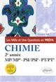 LES 1001 QUESTIONS DE LA CHIMIE EN PREPA - 2E ANNEE MPMP* - PSIPSI* - PTPT* - 3E EDITION ACTUALIS