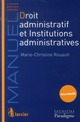 DROIT ADMINISTRATIF ET INSTITUTIONS ADMINIS