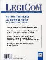 LEGICOM N  45   DROIT DE LA COMMUNICATION : LES REFORMES EN MARCHE