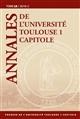 ANNALES DE L UNIVERSITE TOULOUSE 1 CAPITOLE. TOME LX