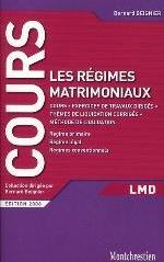 REGIMES MATRIMONIAUX