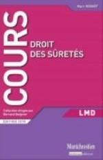DROIT DES SURETES - 2EME EDITION