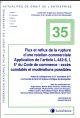 FLUX ET REFLUX DE LA RUPTURE BRUTALE D UNE RELATION COMMERCIALE N35