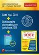 PACK ETUDIANT ESSENTIEL 2019  CODE CIVIL 2019 + DICTIONNAIRE DU VOCABULAIRE JURI - + LIVRET COMPARAT