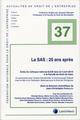 LA SAS : 25 ANS APRES  -  ACTES DU COLLOQUE NATIONAL DJCE TENU LE 5 AVRIL 2019
