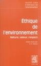 TEXTES CLES D ETHIQUE DE L ENVIRONNEMENT COLLECTIF VRIN