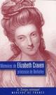 CRAVEN ELIZABET - MEMOIRES