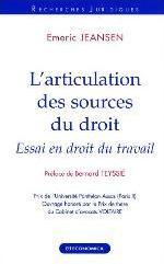 L'ARTICULATION DES SOURCES DU DROIT