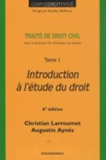 Traité de droit civil Introduction à l'étude du droit Vol.1