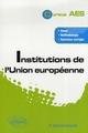 INSTITUTIONS DE L'UNION EUROPEENNE