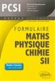 FORMULAIRE  MATHEMATIQUES - PHYSIQUE-CHIMIE -SII - PCSI