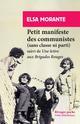 PETIT MANIFESTE DES COMMUNISTES (SANS CLASSE NI PARTI) - SUIVI D-UNE LETTRE AUX BRIGADES ROUGES