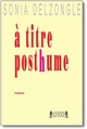 A TITRE POSTHUME : THRILLER EDITORIAL