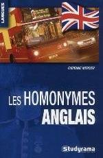 LES HOMONYMES ANGLAIS MERCIER FABIENNE STUDYRAMA