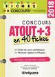 CONCOURS ATOUT+3 EN 40 FICHES 2018