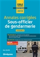 ANNALES CORRIGEES SOUS-OFFICIER DE GENDARMERIE 2019