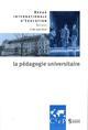 LA PEDAGOGIE UNIVERSITAIRE DANS LE MONDE   REVUE INTERNATIONALE D'EDUCATION SEVRES 80