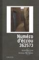NUMERO D'ECROU 362573
